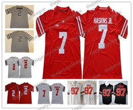 Ohio State Buckeyes  18 Tate Martell 1 Johnnie Dixon 7 Dwayne Haskins Jr.  White Black Red Stitched NCAA College Football Jersey S-3XL bd17eb1e4