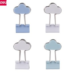 Pack Supplies Australia - Deli Cloud Binder Clips Cute Lovely Kawaii Metal Paper Memo Clips Office School Supplies Kids Gift Office Stationery(4pcs pack)
