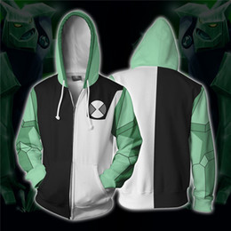 Discount alien movie costumes - Anime ben10 Alien Force Diamond head Cosplay Costumes Zipper Hoodies Sweatshirts 3D Printing Unisex Adult Clothing