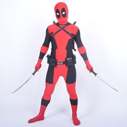 latex costumes xs 2019 - Accessories Cosplay Costumes Cool KIds Costume Red full body spandex Boy Deadpool Cosplay Costumes halloween costume who