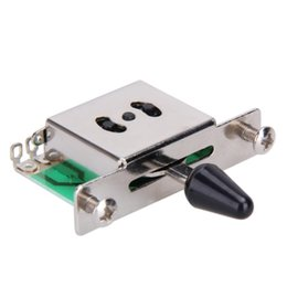Discount electric guitar switches - Colorful 5 Way Electric Guitar Pickups Toggle Selector Switch Parts Chrome With Knob Guitar Parts Accessories