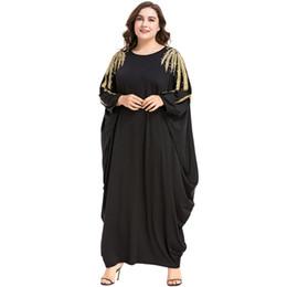 $enCountryForm.capitalKeyWord UK - 3187034 Hot Sell Muslim Women Dresses Beads Deocration Bat Sleeve Robe Korean Version Loose Large Code Mujer Vestidos Musulman Abaya Hijab