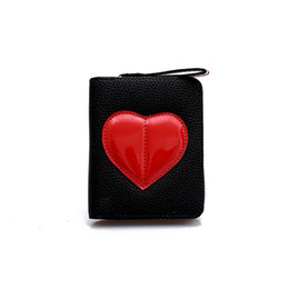 $enCountryForm.capitalKeyWord NZ - Women Wallet Mini Candy Lovely Peach Heart Brief Purses High-quality PU Leather Girls Panelled Fashion Multiply Function Wallets
