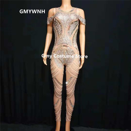 $enCountryForm.capitalKeyWord Australia - E24 Ballroom dance female bodysuit stage pole dance costumes prom jumpsuit Rhinestone outfits clothe acrobatics dress dj wears Yoga dresses