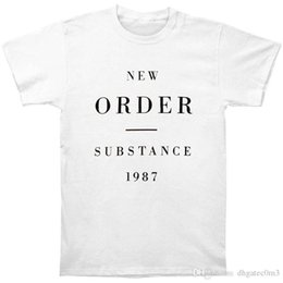 high quality custom t shirts Australia - High Quality Custom Printed Tops Hipster Tees T Shirt Men'S Crew Neck Casual Short New Order Substance 1987 Tee Shirts