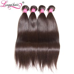 hair weave buy 2019 - Longqi Hair Malaysian Straight Hair Weaving Non Remy Human Bundles Natural Black 1 Piece Can Buy 3 or 4 Ships Free disco