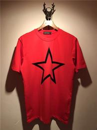 $enCountryForm.capitalKeyWord NZ - 2018 Summer New Fashion brand Mens T Shirt big five-pointed star prints couples T Shirt Mens Clothing Casual Mens Short Sleeve