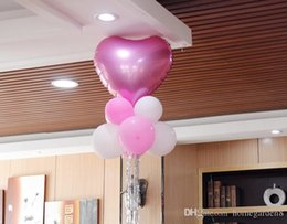 birthday party room decorations NZ - Decorative balloon pendant heart-shaped aluminum balloon package wedding wedding room birthday party decoration