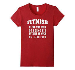 0a359da62 Women's Tee Fitnish - Funny Fitness T-shirt For Food Lovers Cheap Price For Women  Fashion Brand Clothing Cute T Shirts Short Sleeve