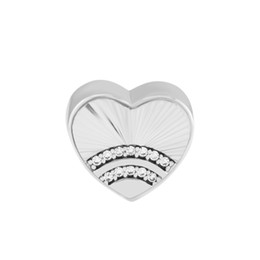 $enCountryForm.capitalKeyWord UK - Pandulaso Fan of Love Charm Heart Shape Bead Original sterling Silver Jewelry Fit Charms Bracelet & Bangle for woman DIY Beads Wholesale