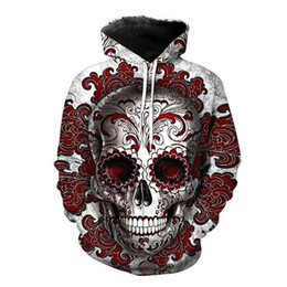 sweatshirt hoodies UK - Skull 3D Printed Hoodies Men Women Couple Sweatshirts Hooded Pullover Brand S-5xl Quality Tracksuits Boy Top Fashion Outwear 10 Styles