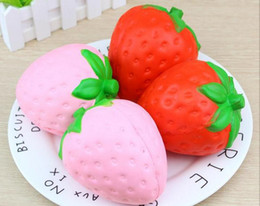 Discount strawberry pack - Squishy free shipping 40pcs pack Squishy Jumbo Strawberry Kawaii Squishy Slow Rising Squishies Pendant Phone Straps Char