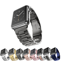apple smart watch stainless steel band Canada - CRESTED Sport Strap For Apple Watch Band 38mm 42mm Iwatch 3 2 1 Stainless Steel Wrist band Link bracelet Watch band Strap
