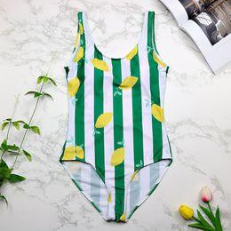fb77d06ed3eee One Piece Swimsuit Women Vintage Swimwear Striped Print Monokini Green Bath  Suit 2018 Beach Wear Maillot De Bain 3237