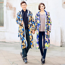 Single raincoat split male and female adult hiking outdoor fashion poncho long section on Sale