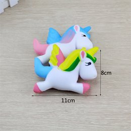 unicorn soft toys NZ - Hot Squishy Unicorn Flying Pony Toy Slow rebound Squeeze PU Decompression Toys Relieve Stress Soft Foam Collection Cake Bread Toy DHL Free