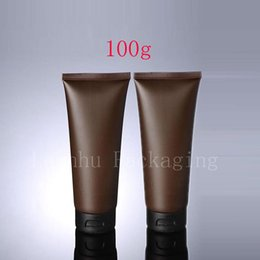 brown bottles Australia - 100g X 50 Empty Brown Soft Tube For Cosmetic Packaging 100ML Lotion Cream Plastic Bottle Skin Care Cream squeeze Containers Tube