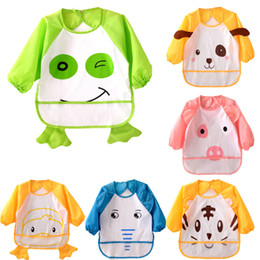 Wholesale winter white poncho for sale – winter Baby Cartoon Styling Waterproof Reverse Wear Clothing Child Eating Bibs Cloths Baby Rice Half Baked Pocket Anti dirty Designs T