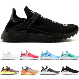 Discount soccer boots online - Human Race trail Running Shoes Men Women Pharrell Williams HU Runner Nerd Black White Peace Passion Younth Sport Sneaker