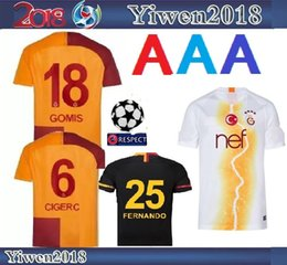 18 19 Galatasaray soccer jerseys home GOMIS Champions League 2018 2019  CIGERCI BELHANDA FERNANDO FEGHOULI FOOTBALL SHIRTS THAILAND QUALITY 1960286e0