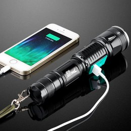 $enCountryForm.capitalKeyWord Australia - Rechargeable LED flashlight CREE XML-T6 3000 lumens torch USB interface to charge the phone Zooable 5 lighting modes Torch Flash Light