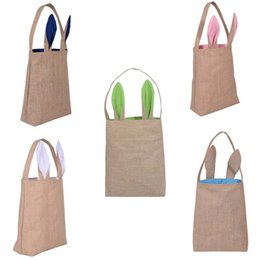 Designs for easter eggs australia new featured designs for easter bunny bags dual layer rabbit ears design basket jute cloth material tote bag carrying eggs gifts box for easter party negle Image collections