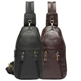 $enCountryForm.capitalKeyWord Australia - Genuine Leather Men Back pack fashion Messenger Bags Single Shoulder Bag Multipurpose Travel Riding Sling Chest Bag