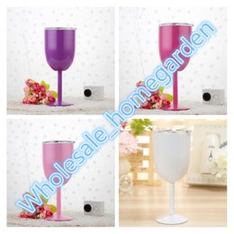 $enCountryForm.capitalKeyWord NZ - 2018 Hot 10oz Wine Glasses Stainless Steel Double Wall Vacuum Insulated Cups With Lids Goblet Bilayer Free Shipping 9 Colors