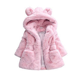 $enCountryForm.capitalKeyWord UK - Winter Children Thicken Warm Coat faux fox fur collar coat Jacket Baby Girl Outerwear Hoodies Infant cashmere Warm Jackets W27