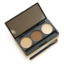 $enCountryForm.capitalKeyWord UK - Professional No label 3 Colors Eyebrow powder Eyes Makeup Kit Waterproof Eye Brow Gel Make Up eyebrow palette eyebrow Enhancers with brush