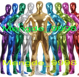 $enCountryForm.capitalKeyWord NZ - Unisex 15 Color Shiny Lycra Metallic Suit Catsuit Costumes Unisex Full Body Suit Costumes Halloween Party Fancy Dress Costumes M334