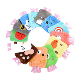 China 100pcs Mini Multi-color Plush Cartoon Thick Hot Water Bottle Bag Heatproof Warm Relaxing Heat Cold Therapy Cute Gift supplier mini hot water bottle wholesale suppliers