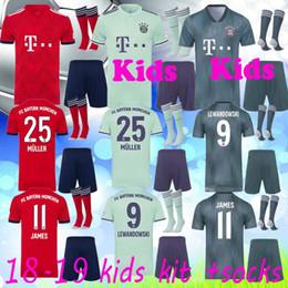 2018 2019 Bundesliga Soccer Bayern Munich kids Soccer Jersey Men 9  LEWANDOWSKI 10 ROBBEN 11 JAMES 25 MULLER 5 HUMMELS kids Football Shirt 533973a7c