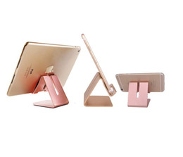Chinese  Aluminum Metal Phone Stand Holder For iPhone7 8 X Tablet Desk Phone Holder Stands For iPad Smartphone Support stye2 manufacturers