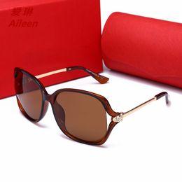 Discount korean mirror box - 2018 new Korean version of the ladies personality big box sunglasses retro polarized UV protection sunglasses 55053 Eyew