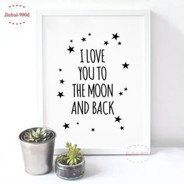 $enCountryForm.capitalKeyWord NZ - painting poster Love Quote Canvas Art Print Painting Poster, Wall Pictures For Child Room Decoration, Cartoon Wall Decor FA128-6