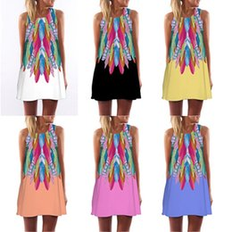2018 Europe and the United States new digital printing round neck Amazon  hot sale explosions straps long dress free shipping 0ace99dc8c6d