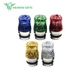 e cigarette spares Australia - 1pc Stainless Steel Sequins 810 Drip Tip 0272 for Most Atomizers Tanks with 810 Drip Tip High Quality E-Cigarette Spare Part