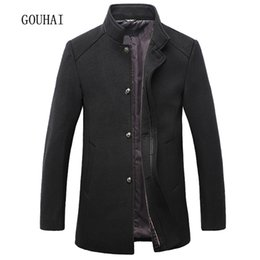 $enCountryForm.capitalKeyWord Canada - Solid Long Coat Men Winter Jacket Single Breasted Stand Collar Jackets Mens Overcoat Plus Size 5XL Wool & Blends Men Peacoat