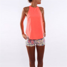 zipper tanks UK - 2017 Summer Newest Women Chiffon Tank Top Sexy Halter Crochet Sleeveless Back Zipper Vest Tops Casual Club Party Camis Plus Size