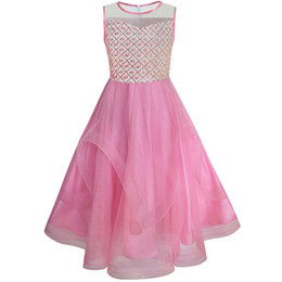 $enCountryForm.capitalKeyWord Canada - Sunny Fashion Flower Girls Dress Embroidered Sequin Wedding Pageant Bridesmaid 2017 Summer Princess Party Dresses Size 7-14