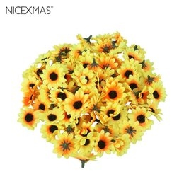 yellow rose party decorations UK - DIY Lifelike Artificial Plastic Sunflower Rose Heads Home Party Decorations Props