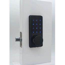 Las mejores cerraduras de puerta electrónicas La cerradura de la puerta del teléfono inteligente wifi con teclado digital y los orificios ocultos para las llaves son compatibles con el cerrojo automático cuando está cerrado en venta