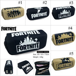 box student pencil 2018 - 5 Design Fortnite Pencil Bag Cartoon Student Pencil Cases Box Stationery Storage Bag School Office Supply Kids Gift Purs