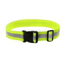 Band Belts UK - High Visibility Reflective Safety Elastic Waist Band Belt Sports Running Waistband Strap for Outdoor Walking Biking