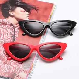 Discount black mirror polarized sunglasses - Fashion Design Cat Eye Sunglasses Women Sun Glasses Mirror Gradient Lens Retro Eyewear UV400 16 kinds of color selection