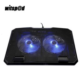 Notebook Cooling Fans NZ - External USB Laptop Cooler with 2 Fans Notebook Cooling Pad and 2 USB Port Fan For Notebooks suitable for 12-15 Inch Laptops PC