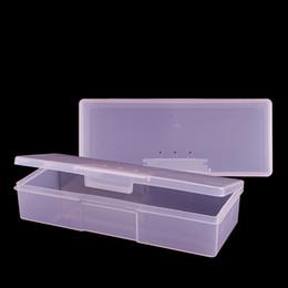 Stud Cases Australia - Art Equipment 1pcs Pink Plastic Nail Supplies Tools Rectangle Empty Storage Box Holder Case For Nail Art Studs Brushes Powder Tool SA145