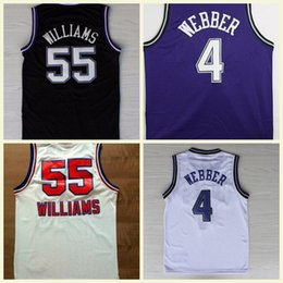6311d6de4 Top Quality 4 Chris Webber Jersey 55 Jason Williams Jersey Stitched Jason  Chris College Basketball Jerseys Drop Shipping
