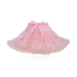 f3d4bfde5b Fluffy Yellow Tutu UK - Pink Womens Skirt Fluffy Chiffon Pettiskirts Tulle  Skirt Party Dance Tutu